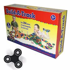 Build-A-Track / Create a Road with over 204 pieces FREE SPINNER FIDGET TOY