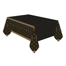 Hollywood Black & Gold Glitz & Glam Plastic Tablecover Oscars Movie Party Supply