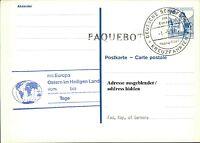 Schiffspost Stempel Schiff MS EUROPA 1987 Kreuzfahrt Ostern im Heiligen Land