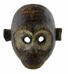 Antique Small Mask African Monkey Bulu 7 1/2in Art First Primitive 16871