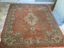 More details for large vintage room size rug carpet 8ft 4ins x 7ft