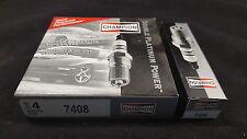 New Champion Double Platinum Spark Plug 7408 Box of 4