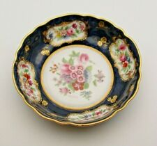 SIGNED ROYAL WORCESTER HAND PAINTED DISH WITH ENGLISH FLOWERS c.1919 - PERFECT
