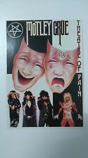 Motley Crue Theatre of Pain group vintage music postcard POST CARD