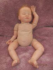 Reborn Realborn baby doll Gemma sleeping, kit by Donna Rubert opened nose rooted