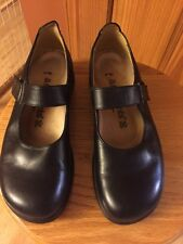 NWOB Birkenstock Footprints ANNAPOLIS Black Leather MARY JANE SHOES  38 7