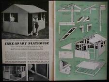 Playhouse How-to Build PLANS 6'x8' Take-Apart design