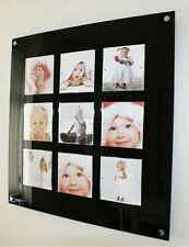 "XL Photo frame multi magnetic 6 x 6 "" Instagram baby picture Cheshire acrylic"