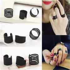 3PCS Punk Hot Cool Ring Set Women Stack Plain Above Knuckle Ring Band Midi Rings
