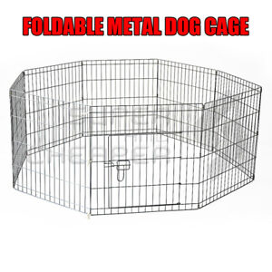 24' 61 X 61 Cm 8 Panel Pet Playpen Portable Exercise Metal Cage Fence Dog Play P