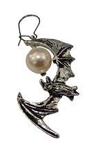 Alchemy Moonlit Bat Earring