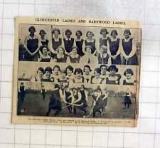 1925 Gloucester Ladies Hockey Team Opposing Barnwood Ladies At Hempstead