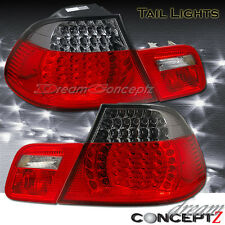 2000-2002 BMW E46 3-Series 2 Door COUPE LED Tail lights 4 PCS Red Smoked Style