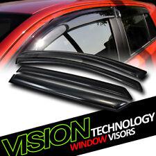 For 07-12 Kia Rondo JDM Rain/Wind Guard Dark Vent Shade Deflector Window Visors