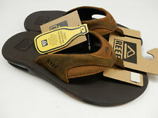 Reef Mens Leather Fanning Bronze 9