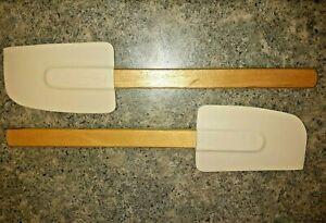 Rubbermaid Cooking Spatula 1902 Wooden Handle Heat Resistant Scraper 2 Piece New
