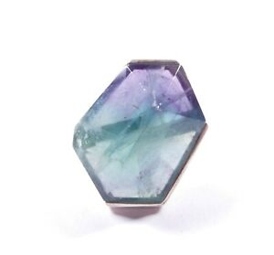 Rainbow Fluorite Ring 925 Sterling Silver Large Solitaire 14.7g