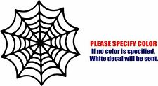 "Spiderweb Cobweb Decal Sticker JDM Funny Vinyl Car Window Bumper Laptop Boat 6"""