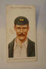 1908 Vintage Wills Cricket Card - S.F. Barnes - Staffordshire.