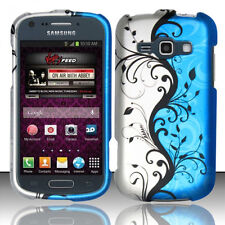 "For Samsung ""Prevail 2"" Rubberized HARD Phone Case Cover Blue Vines Accessory"