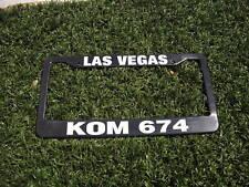 Las Vegas KOM 674 Police License Plate Frame Metro Call Sign