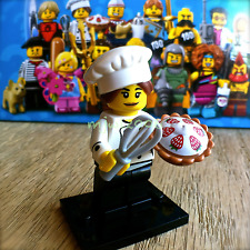 LEGO 71018 Minifigures SERIES 17 Gourmet Chef #3 Baker Minifig SEALED NEW pie