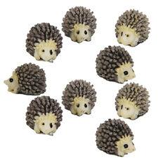 Miniature Hedgehog Dollhouse Bonsai Fairy Garden Landscape 10pcs  Home Decor
