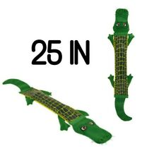 "Top Paw® Tuff Firehose 25"" Green Gator XL Durable Dog Toy"