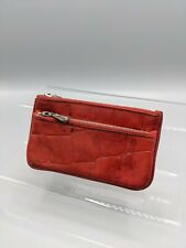 Mulberry Zip Coin Purse/Key Wallet in Red Congo Leather