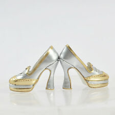 "16"" Sherry Fashion Shoes Pumps Tonner Doll Antoinette Ellowyne Wilde Cami Silver"