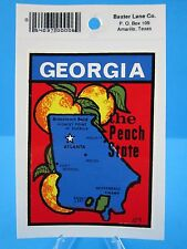 "VINTAGE... ""GEORGIA - THE PEACH STATE""    STICKER / DECAL... (NEW OLD STOCK)"