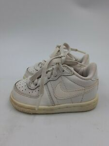 Baby Nike Old School Basketball Shoes Toddler Baby Shoes Size 4C All White