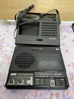 SONY TC-95A CASSETTE RECORDER WITH CASE VINTAGE MADE IN JAPAN please read