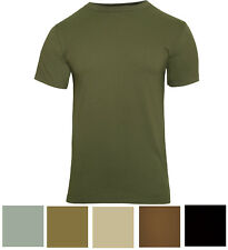 Solid Color Tactical T-Shirt Plain Army Military Outdoors Camp Short Sleeve Tee