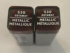 (2) Covergirl Exhibitionist Metallic Lipstick, 530 Getaway