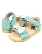 New LIVIE & LUCA Sandals Minnie Light Blue White Bow toddler 5