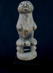 Art African Arts First Tribal -fétiche Losso On Base - Togo - 16 CMS