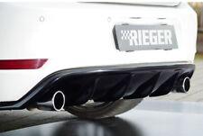 Rieger CUP Diffusor SCHWARZ für VW Golf 6 VI GTI Heck Ansatz Stoßstange ED35 ABS