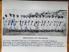 Kansas City Monarchs 1948 Negro Leagues  Autographed  team by 6 Buck O'Neil COA