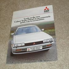 Mitsubishi Galant Turbo Diesel Saloon Brochure 1985-1986 - UK Market