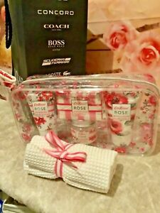 Cath Kidson Rose Bath & Body Gift Set Bag, with Movado Gift Bag 🎁