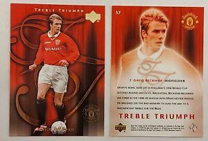 DAVID BECKHAM Manchester United TREBLE TRIUMPH Upper Deck Card 2002
