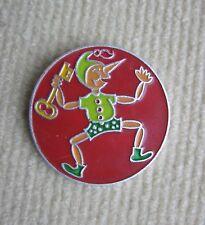 pin badge Buratino - soviet Pinocchio with Golden Key - diameter 5 cm