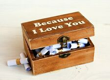 Love Message and Quote Chest,Personalized box,Because I Love You,52 Reasons