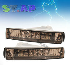 90-91 HONDA CRX HF SI FRONT BUMPER LIGHTS SIGNAL TURN LAMP PAIR JDM [SMOKE]