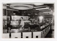 PHOTO ANCIENNE  Employé Barman Bar Café Comptoir P. Bourdin Paris Années 1960