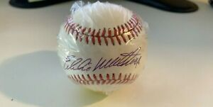 Eddie Mathews Signed Official NL National League Baseball HOF Braves