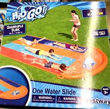 H2OGO Quadruple Water Slide Slip N Slide Outdoor Inflatable Play
