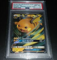 PSA 8 NM-MINT Raichu GX SM213 SM Black Star Promo HOLO Pokemon Card
