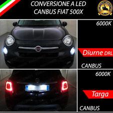 LUCI DIURNE DRL LED + LUCI TARGA LED CANBUS 6000K FIAT 500X DAL 2017 IN POI